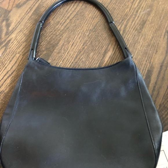Prada Handbags - Vintage Prada bag, black with bone handle